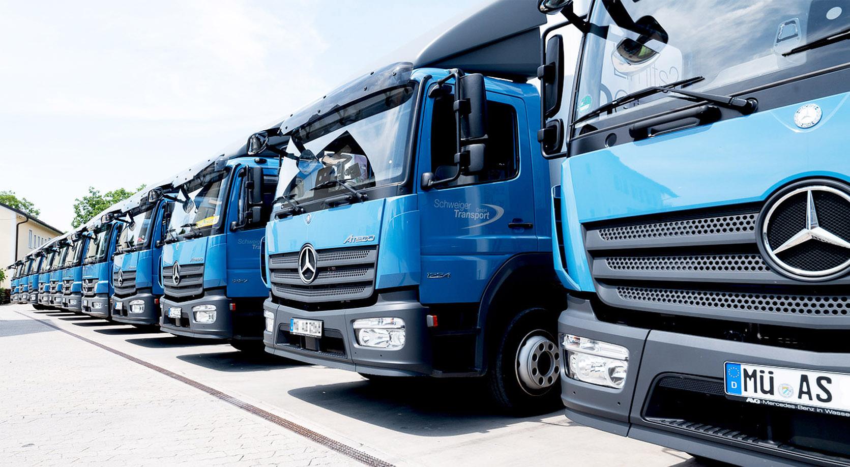 Schweiger Transport GmbH - Speditions- und Logistikunternehmen - Fuhrpark