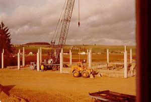 Schweiger Transport - Geschichte-1977 - Bau der Halle