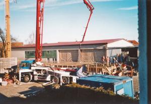 Schweiger Transport - Geschichte-2010-2011 - Neubau der alten Halle